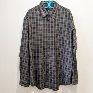 Haggard plaid button front shirt 2XLT